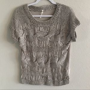 Willow & Clay ribbon knit top. Size xs